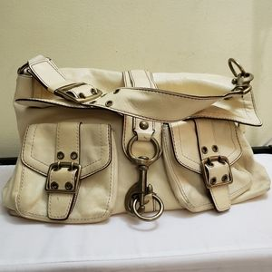 Coach legacy goat skin leather carryall